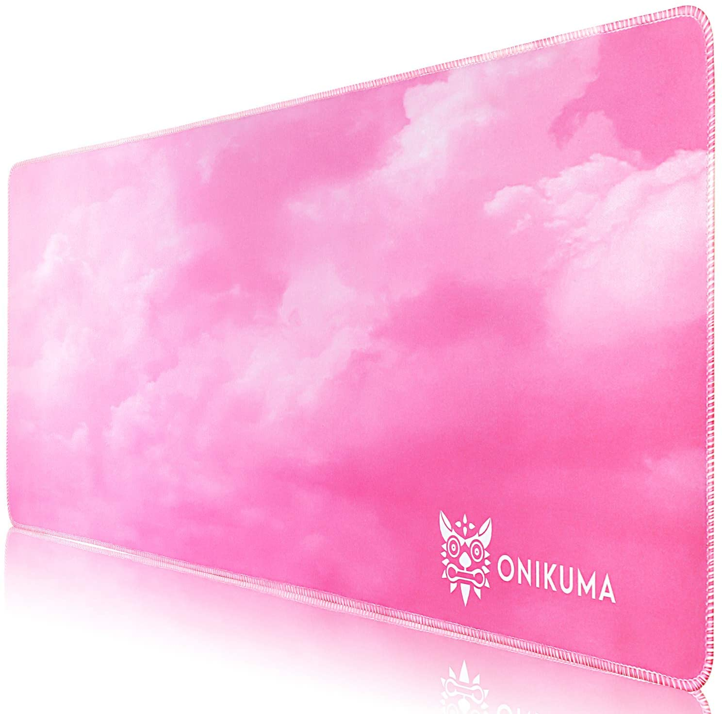 Large Pink Mouse Pad with Durable Stitched Edges